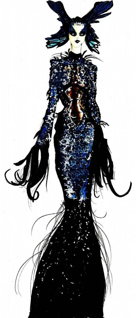 Dress: Thierry Mugler