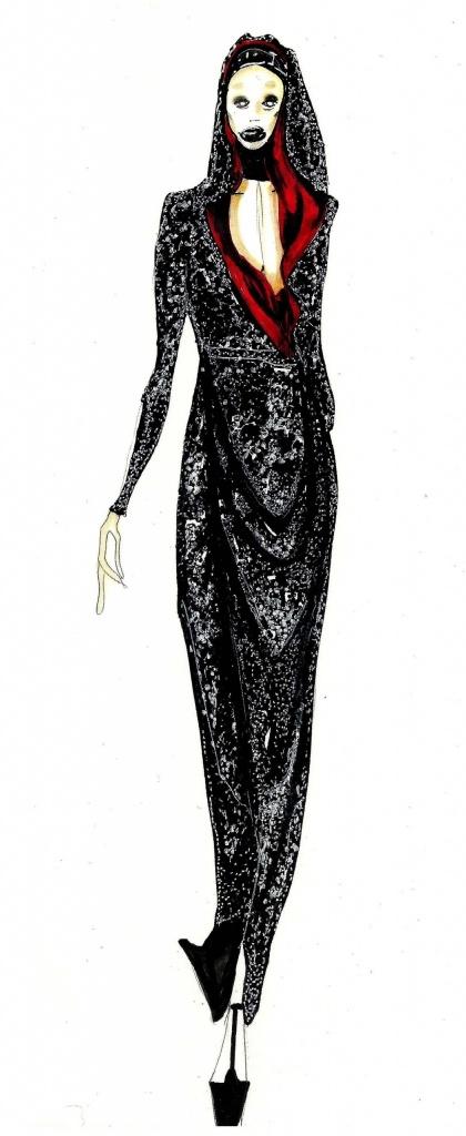 Dress: Alexander McQueen